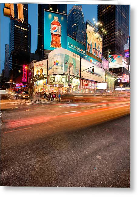 Times Square Series Greeting Card by Josh Whalen