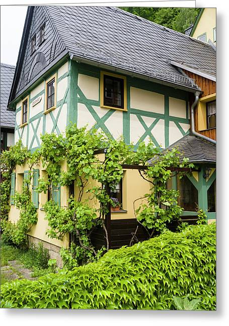 Traditional Half-timbered Buildings Greeting Card