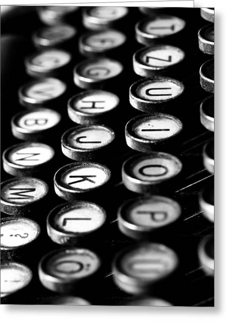 Typewriter Keys Greeting Card by Falko Follert