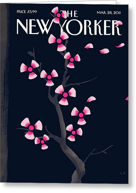 New Yorker March 28th, 2011 Greeting Card by Christoph Niemann
