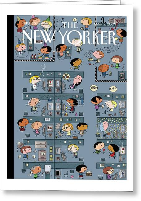 New Yorker March 2nd, 2009 Greeting Card