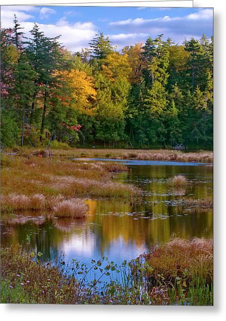 Usa, New York, Adirondack Mountains Greeting Card