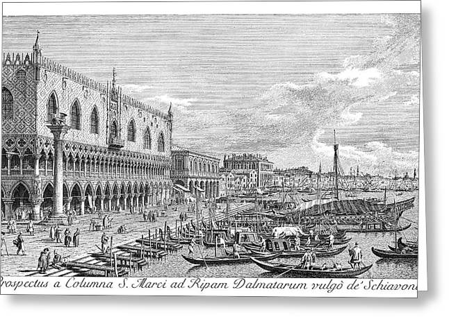 Venice Grand Canal, 1735 Greeting Card by Granger