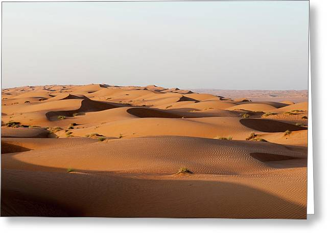 Wahiba Sands Desert, Oman Greeting Card by Sergio Pitamitz