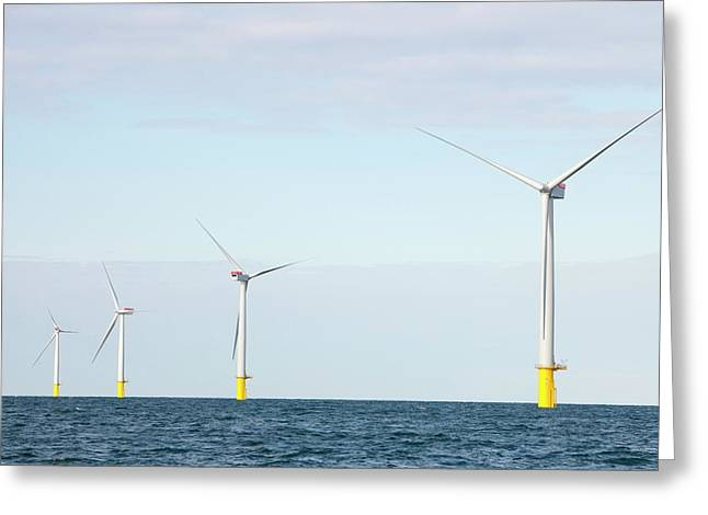 Walney Offshore Windfarm Greeting Card by Ashley Cooper