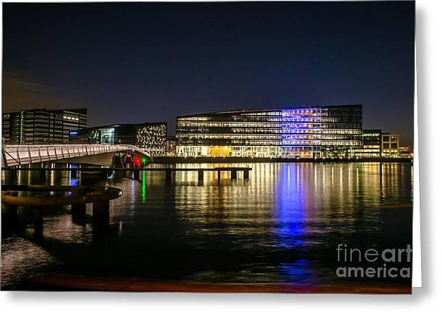 Waterfront Greeting Card by Jorgen Norgaard