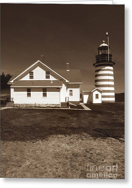 West Quoddy Lighthouse Greeting Card by Skip Willits