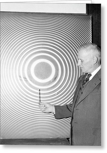 William Meggers Greeting Card by Emilio Segre Visual Archives/american Institute Of Physics