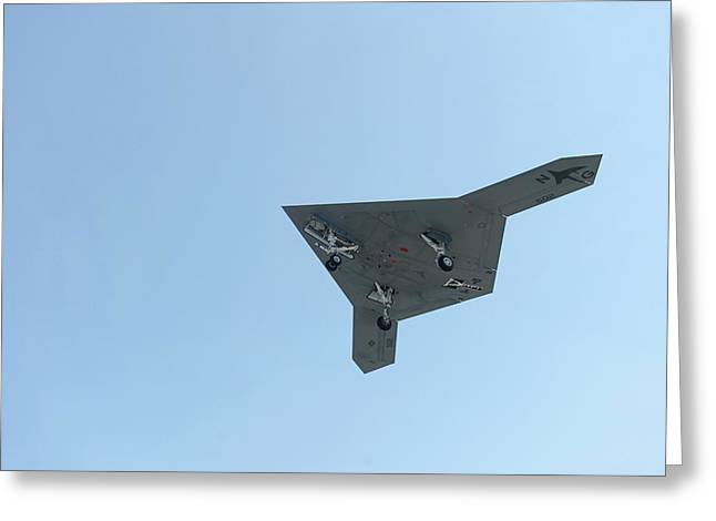 X-47b Unmanned Combat Air Vehicle Greeting Card