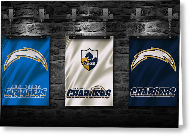 San Diego Chargers Greeting Card by Joe Hamilton
