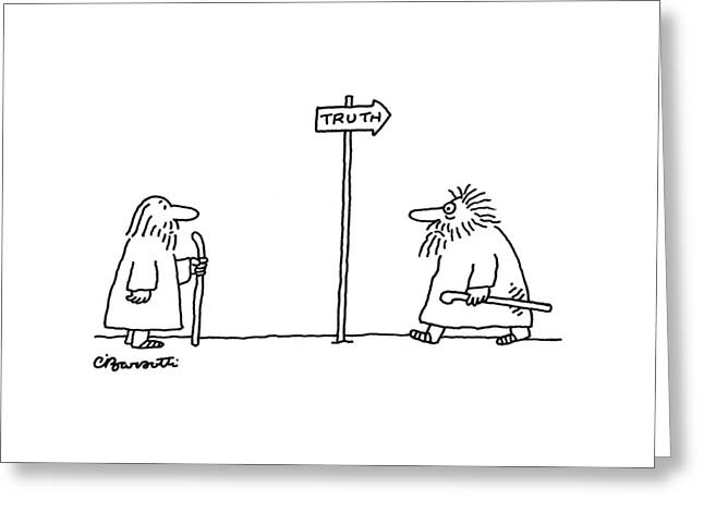 New Yorker April 24th, 2006 Greeting Card by Charles Barsotti