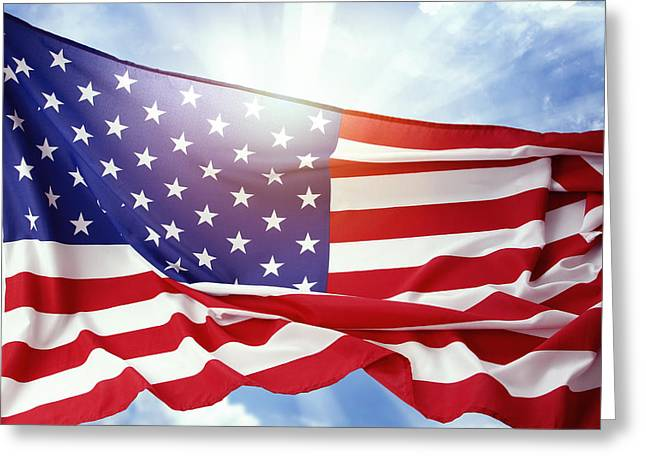 American Flag 55 Greeting Card