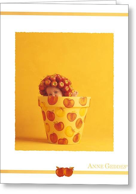 Apple Photographs Greeting Cards - Untitled Greeting Card by Anne Geddes