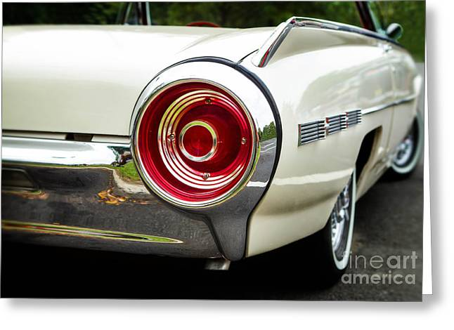 62 Thunderbird Tail Light Greeting Card by Jerry Fornarotto