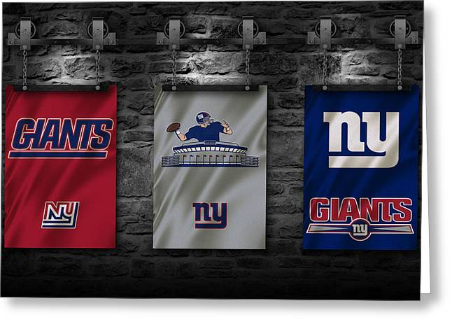 New York Giants Greeting Card by Joe Hamilton
