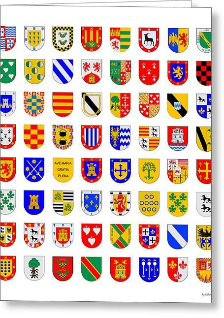 64 Coat Of Arms Greeting Card by Eduardo Padilla