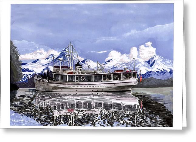 Alaska Yachting Greeting Card by Jack Pumphrey