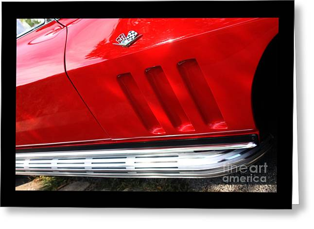 65 Sting Ray-torch Red-pass Side-8771-1 Greeting Card by Gary Gingrich Galleries