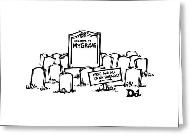 New Yorker May 14th, 2007 Greeting Card by Drew Dernavich