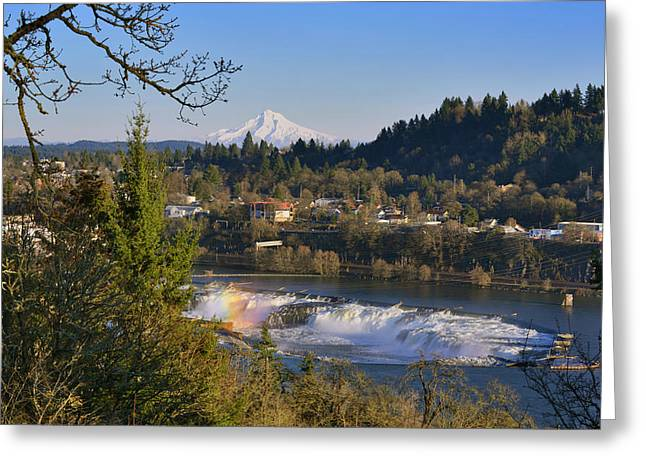 Usa, Oregon, Portland Greeting Card
