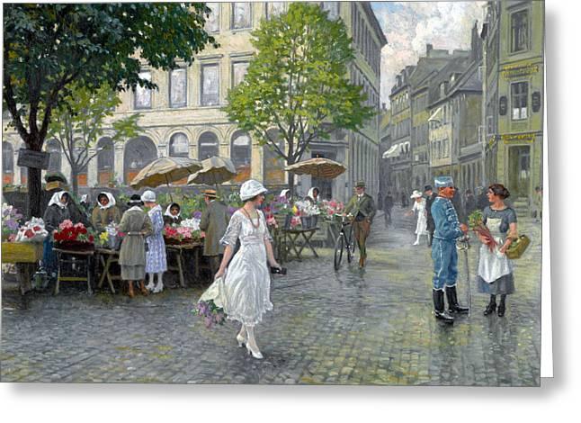 Copenhagen Greeting Card by Paul Gustav Fischer