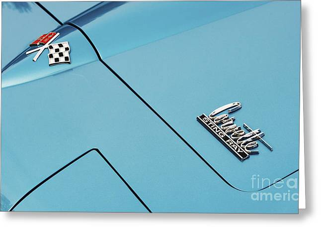 66 Sting Ray Hood  Greeting Card by Tim Gainey