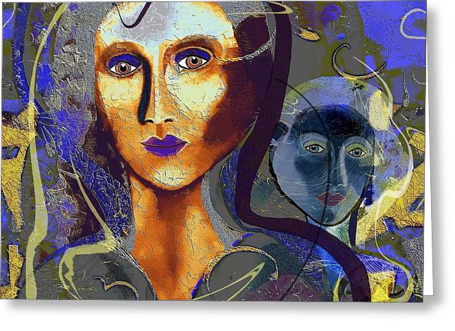 665 - Alter Ego Greeting Card by Irmgard Schoendorf Welch