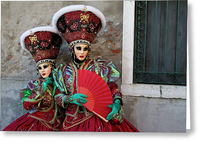Venice At Carnival Time, Italy Greeting Card
