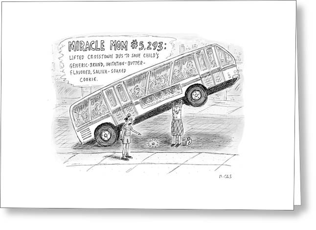 New Yorker October 8th, 2007 Greeting Card by Roz Chast