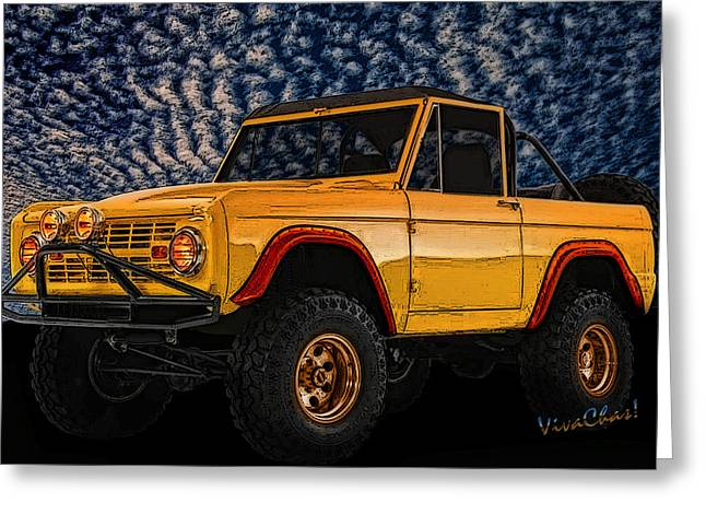 69 Ford Bronco 4x4 Restoration Greeting Card