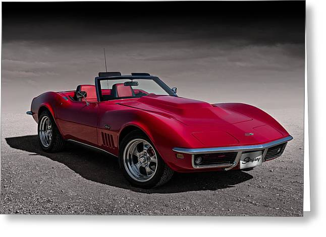 69 Red Stingray Greeting Card