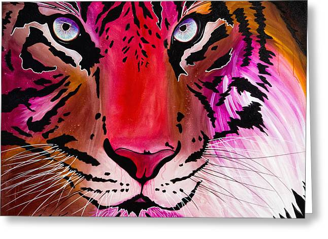 Greeting Card featuring the painting Beautiful Creature by Dede Koll