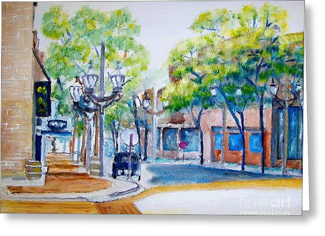 6th Ave Street Sunday  Greeting Card by Kenneth Michur
