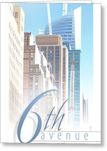 6th Avenue Greeting Card