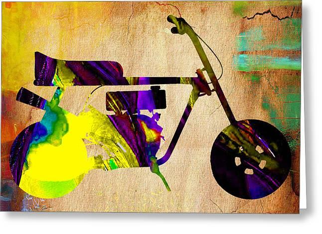 1960s Mini Bike Greeting Card by Marvin Blaine
