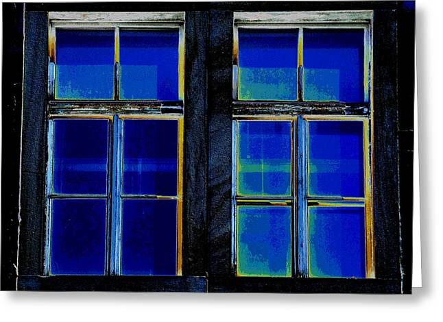 Aging Alte Fenster Serie Greeting Card by Sir Josef - Social Critic - ART