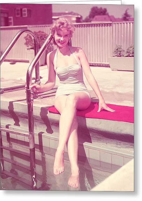 Anne Francis Greeting Card by Silver Screen