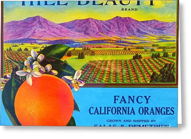 Antique Food Packaging Label. Greeting Card by Robert Birkenes