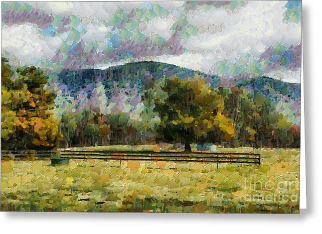 Greeting Card featuring the digital art Araluen Valley Views by Fran Woods