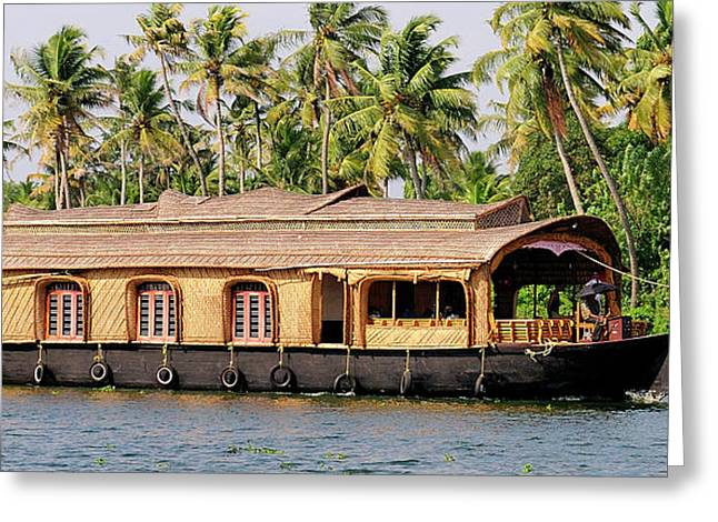 Asia, India, Kerala (backwaters Greeting Card by Steve Roxbury