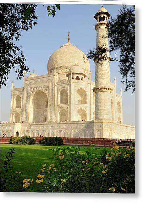 Asia, India, Uttar Pradesh, Agra Greeting Card by Steve Roxbury