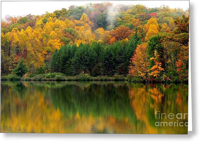 Autumn Big Ditch Lake Greeting Card