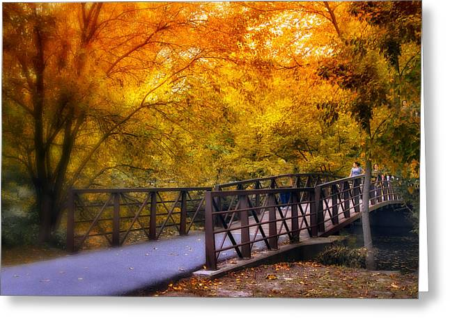 Autumn Crossing Greeting Card