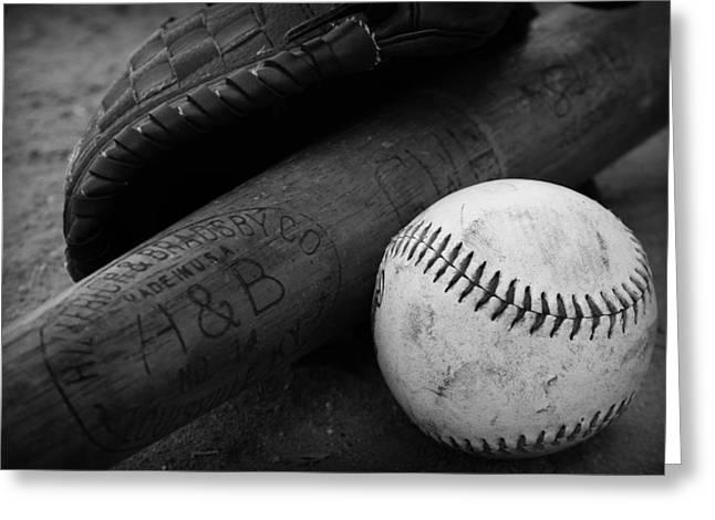 Baseball Greeting Card by Kelly Hazel
