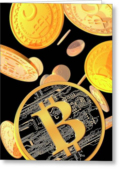 Bitcoins Greeting Card
