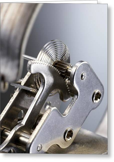 Bourdon Pressure Gauge Greeting Card by Science Photo Library