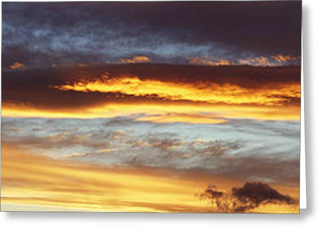 Bright Sky Greeting Card by Les Cunliffe