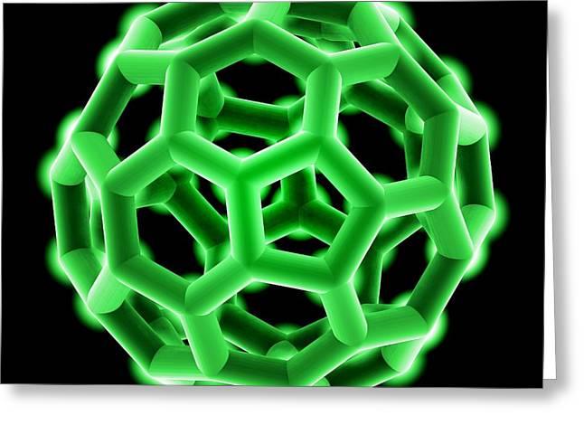 Buckminsterfullerene Molecule Greeting Card by Laguna Design