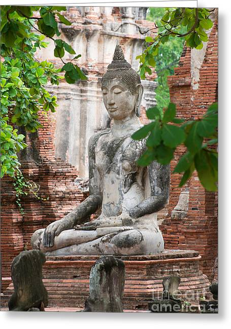 Buddha Statue Greeting Card