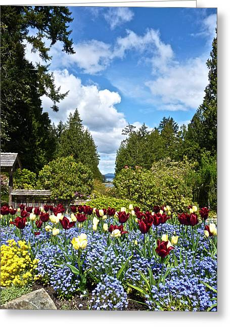 Butchart Gardens Greeting Card by Steven Lapkin